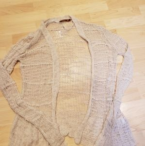 Open knit cardigan large